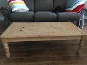 Solid Pine Coffee Table Set