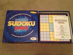 Sudoko Mania Board Game Plus Jumbo Book of Sudoko Puzzles