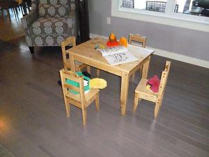 Table and chairs for kids