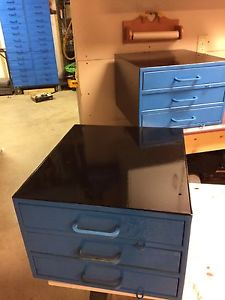 Two Industrial Small parts cabinets and storage unit