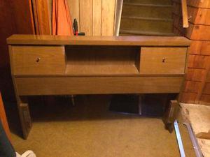 Vintage 50's Solid Hardwood Double Bedroom Set