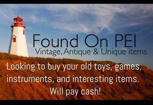 Wanted: Paying cash for old toys, video games, instruments,