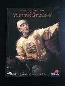 Wayne Gretzky Official Retirement Night Program