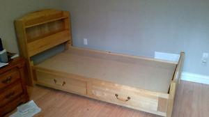 Wood single bed for sale