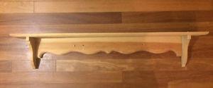 Wooden Pine Shelf - Handmade - ready to paint