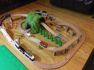 Wooden Train Set! Compatible with Thomas trains!
