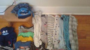 big lot of baby boys 6 month clothing