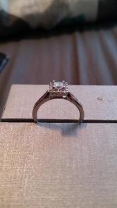 0.50 CT. T.W. Princess-Cut Diamond Frame Ring in 14K White