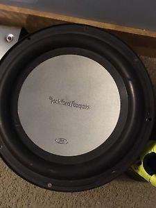 "10"" Rockford sub and Rockford amp"