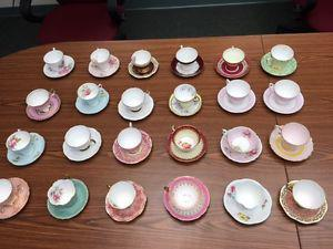 24 gold tea cups and saucer's