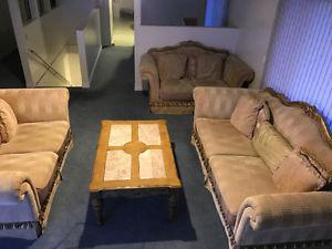3 Piece Couch Set and Matching Table