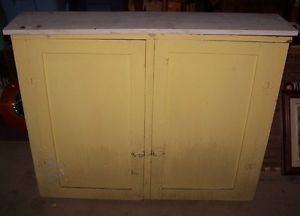 ANTIQUE COMPACT TWO DOOR CUPBOARD SHELVING UNIT,COOL!
