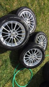 All season tires on rims
