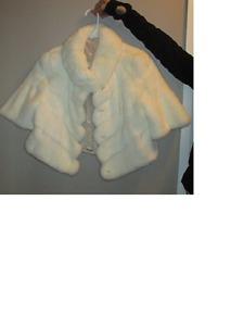 Authentic White Mink Fur Jacket