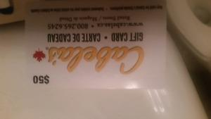 Cabela's $50 gift card