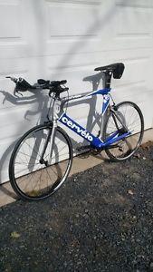 Cervelo P3 carbon fibre triathlon bike