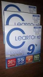Cleartone Hybrid electric guitar strings.Made in the U.S.A.