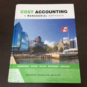 Cost Accounting - 7th Canadian Edition, Horngren