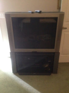 """FREE 29"""" TV with stand"""