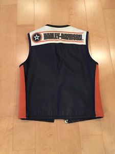 Harley leather vest size S