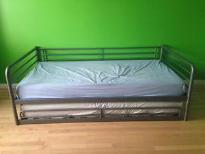 IKEA Twin bed with extra pull out bed