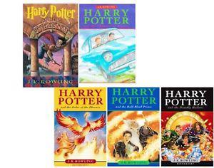 J K ROWLING - 5 Harry Potter Hardcover Books