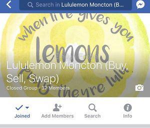 Lululemon Moncton ! Find us on FB !