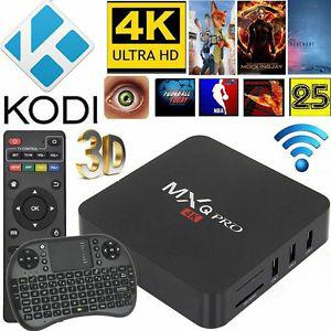 MXQ Pro 6.0 4K android box with wireless Backlit keyboard