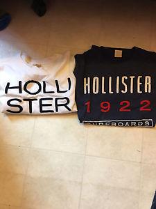 Mens Medium Hollister long sleeve shirts