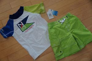 Nautica Swim Suit and Shirt Set - Brand New with Tags - Size