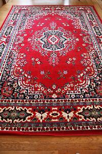 Oriental Rug - Red, White ~ 8' x 10'