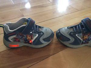 Paw patrol light up sneakers- Size 6