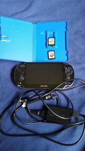 Playstation Vita With charging cable SD card and games