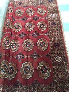 Princess Bokhara wool vintage rug 9x12