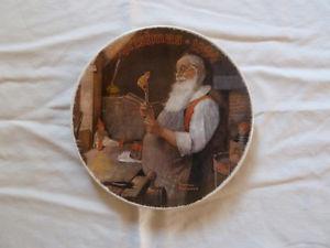 """Santa in His Workshop"" Decorative Plate"