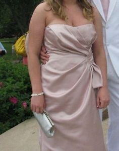 Size 14 light pink prom dress for sale