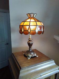 Tiffany Type Tri Light Table Lamp