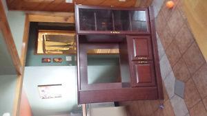Tv stand in oak