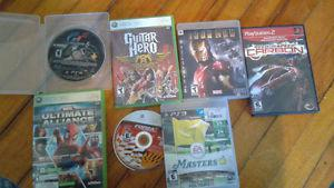 Xbox 360 and ps3 games