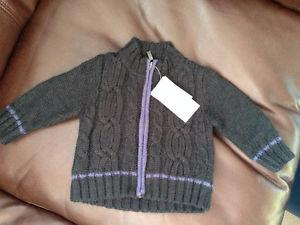 new with tags Mexx zip up sweater 6-9 months