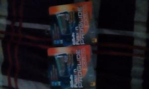 2 packs of Gillette fusion proglide plades