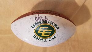 Edmonton Eskimos Signed Grey Cup Football