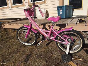 Girls Norco Rainbow bike with training wheels