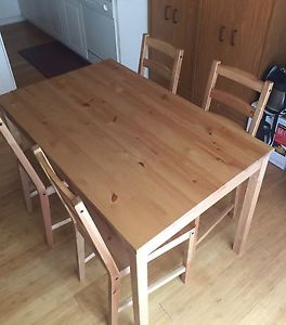 IKEA Kitchen dining set - 4 chairs