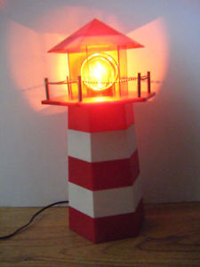 Lighthouse lamp for sale in Truro....