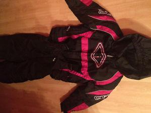 Little girls pink Chocko 2piece snowsuit sz 5t call