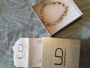 New Mens Sterling Silver Bracelet