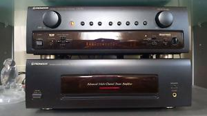 Pioneer pre amp and power amp.