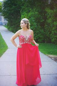 RED GRAD DRESS!
