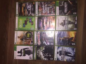 Selling Black XBOX 360 with 12 games, 3 controllers